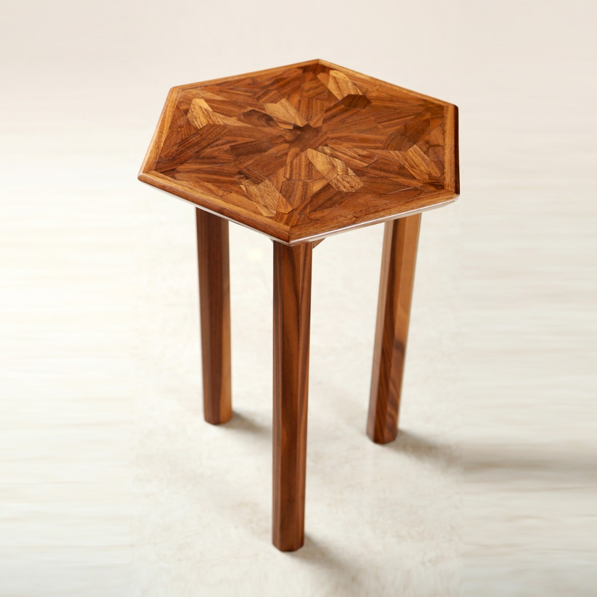 Zena hexagon end table