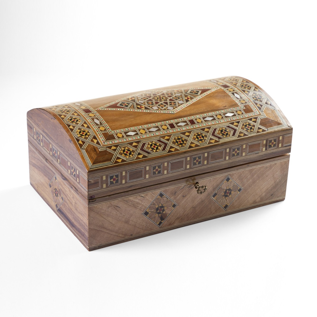 Wooden damascene jewelery box