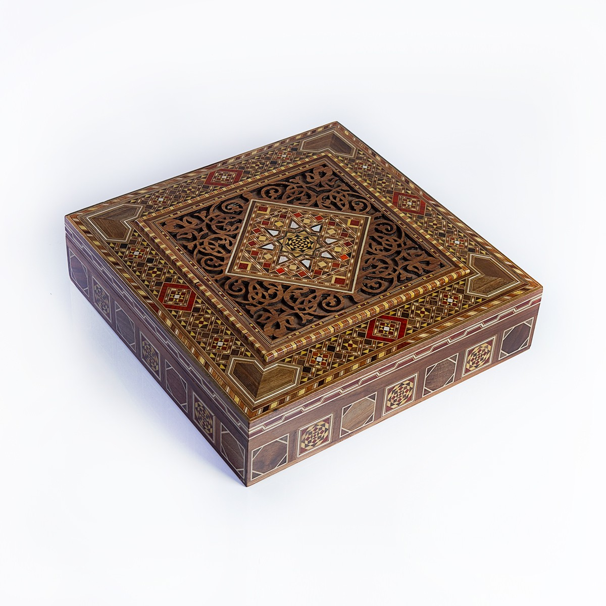 Luxury handmade jewelry box - dark beige