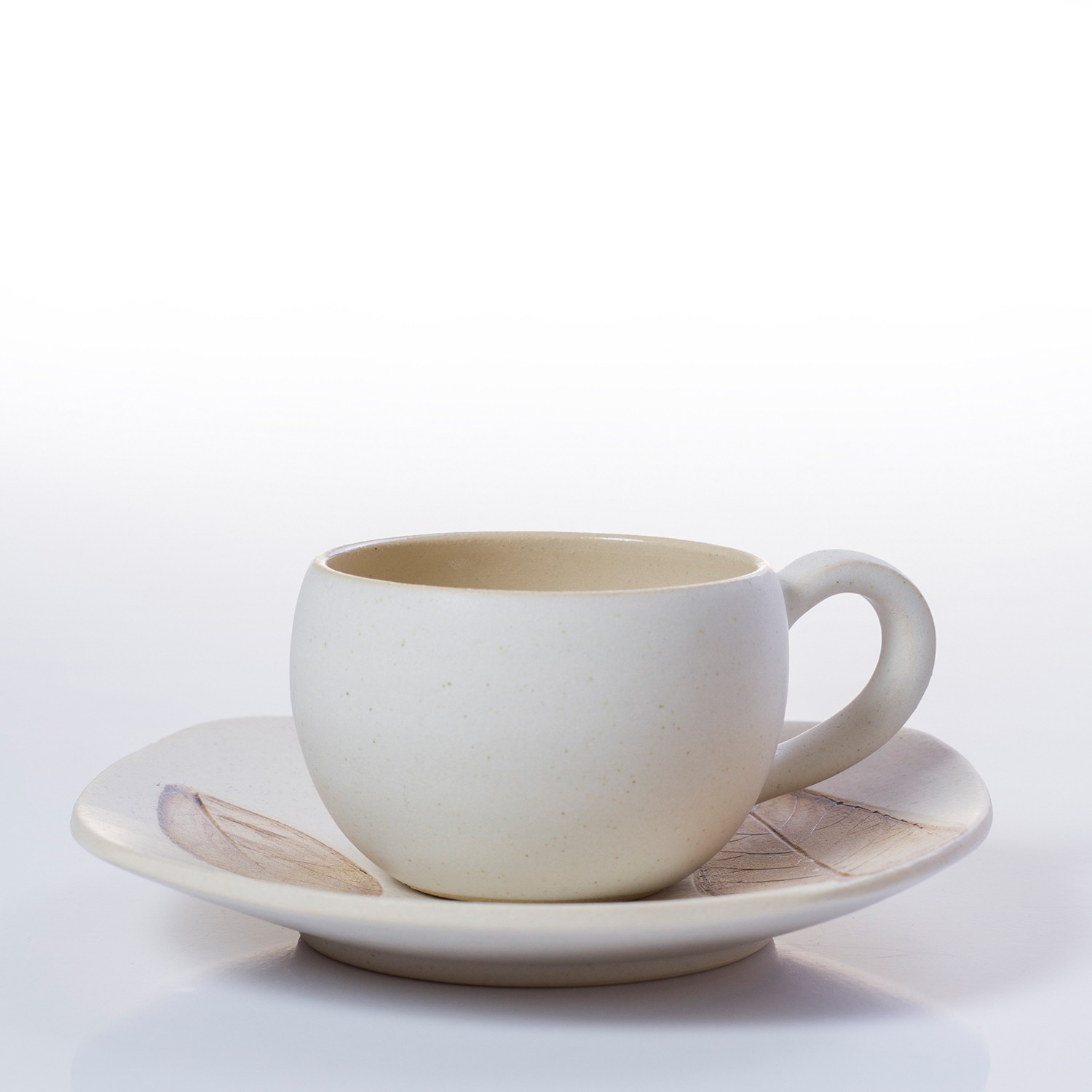 Espresso coffee cups set - White