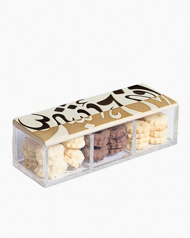 Small Accessory Acrylic Divided Box with Ceramic Lid