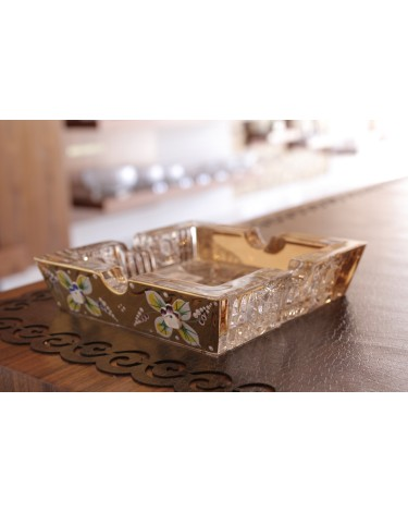 Bohemia Crystal Hand cut Ashtray