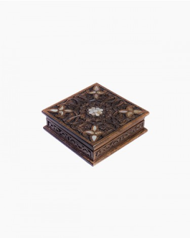 Luxury handmade box - small-brown