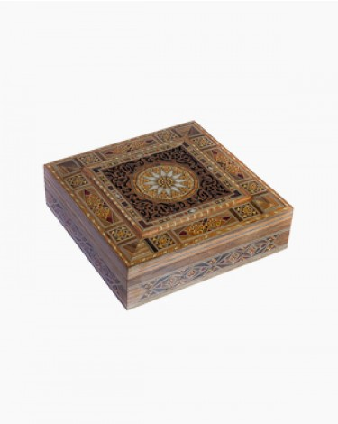 Luxury handmade jewelry box - beige