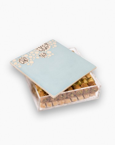 All-Purpose Acrylic Box with Ceramic Lid - Blue