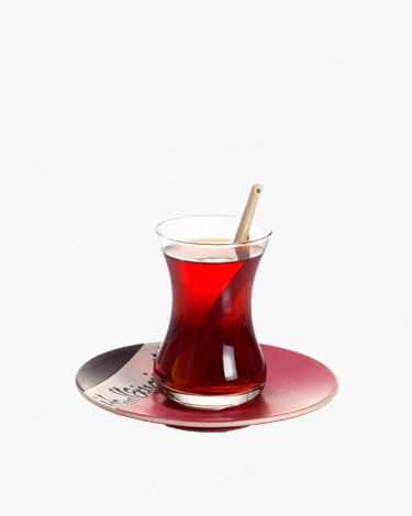 Mamlouki Glass Istikanah with Saucer