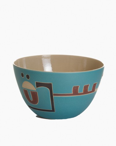 Medium Round Salad Bowl Kufic Script