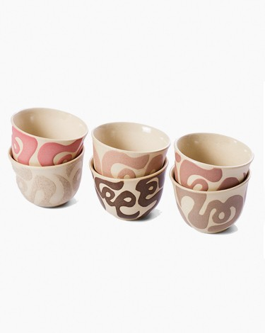 Arabic coffee cups - multicolored