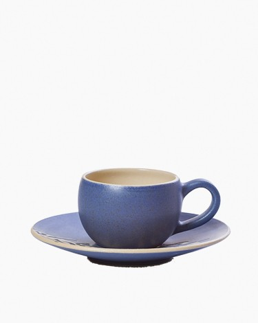 Espresso coffee cup set - Matt Dark Navy Blue