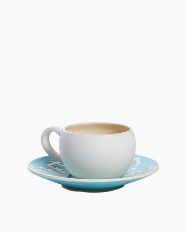 Espresso coffee cups set - Turquoise