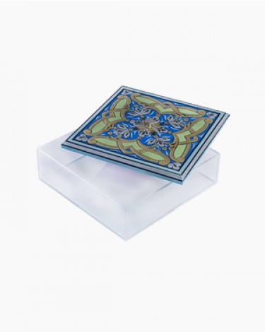 Dates sweets box - blue