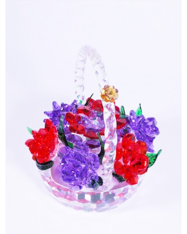 Crystal Flowers Basket