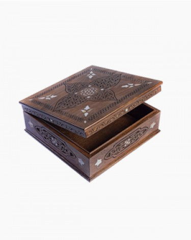 Luxury handmade box - large-brown