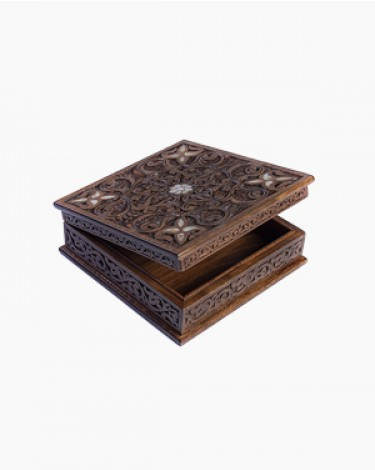 Luxury handmade box - medium-brown