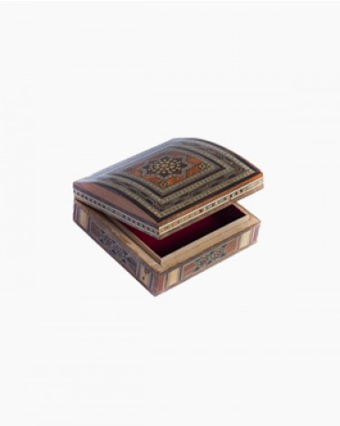 Luxury handmade jewelry box - light brown