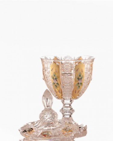 Bohemia Crystal Footed Bomboniere