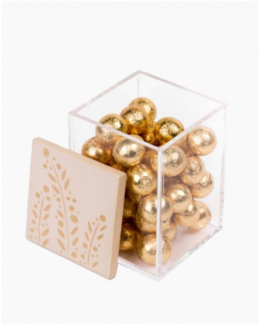 All-Purpose Acrylic Box with Ceramic Lid - Kufic Script