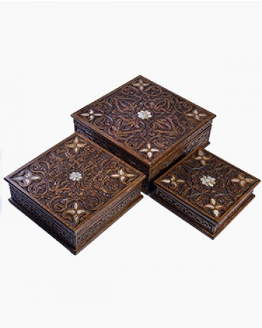 Set of 3 luxury handmade boxes
